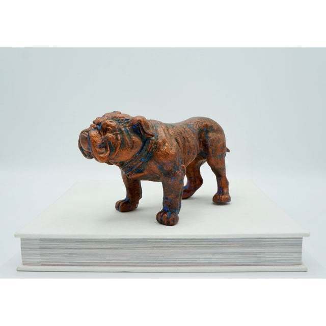 Mid-Century Modern Mid-Century Modern Bulldog Statue For Sale - Image 3 of 8