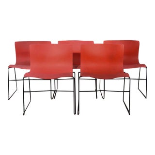 Mario Vignelli for Knoll International Handkerchief Chairs - Set of 5 For Sale