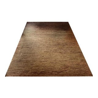 Brown Wool Family Room Rug - 8' x 10'