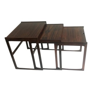Kurt Ostervig Rosewood Nesting Tables - Set Of 3