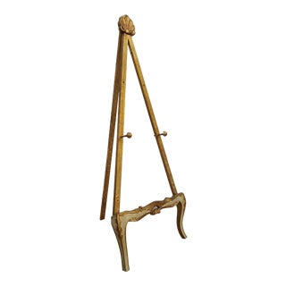 Italian Florentine Gold Gilt Carved Wood Floor Easel