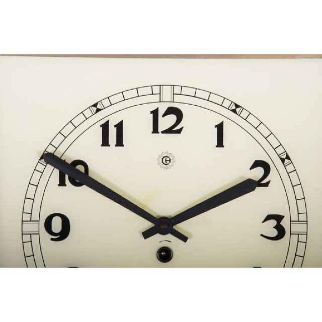 Art Deco Wall Clock, 1936 For Sale - Image 4 of 6