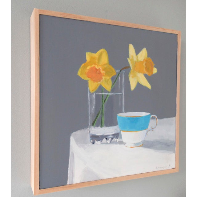 Contemporary Daffodils and a Teacup by Anne Carrozza Remick For Sale - Image 3 of 6