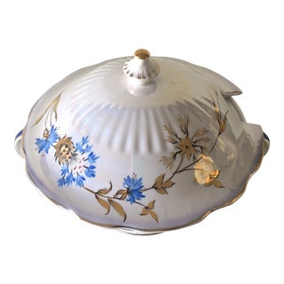 1950s Art Nouveauru Russian Porcelain Holiday Tureen For Sale