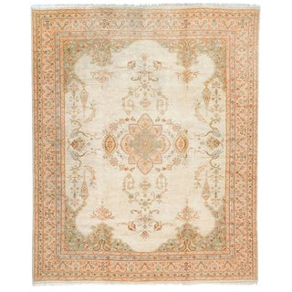 Oushak Carpet with Delicate Palette For Sale