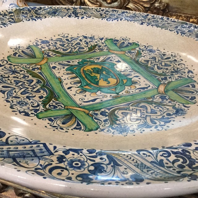 1990s Italian Faience Ceramic Charger/Platter For Sale In Dallas - Image 6 of 13