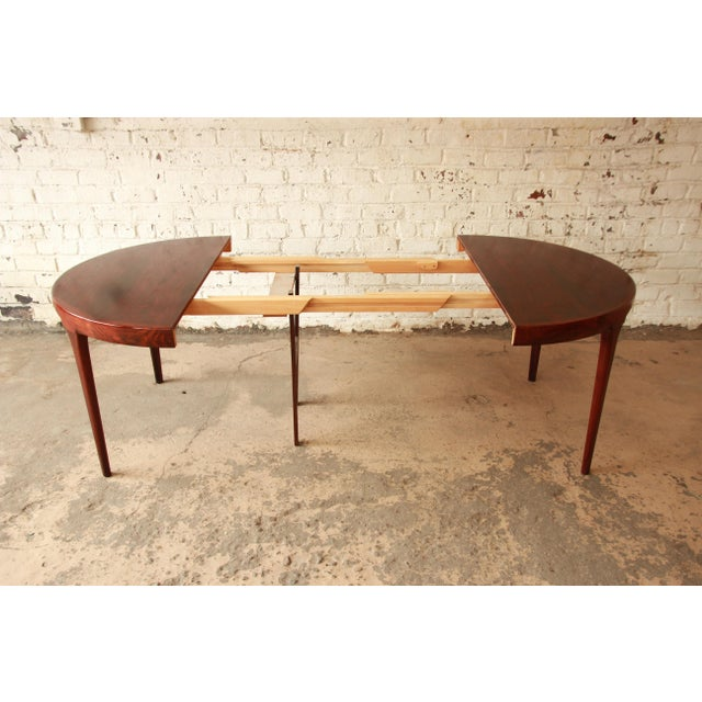 Ib Kofod Larsen Rosewood Extension Dining Table For Sale - Image 9 of 11