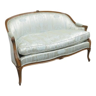 Louis XV Style Carved Walnut Settee For Sale