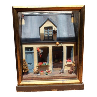 19th Century Antique Tony Duquette French Diorama Box Lamp For Sale