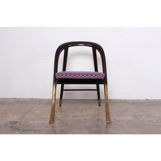"Brass Edward Wormley ""a Chair"" for Dunbar For Sale - Image 7 of 10"
