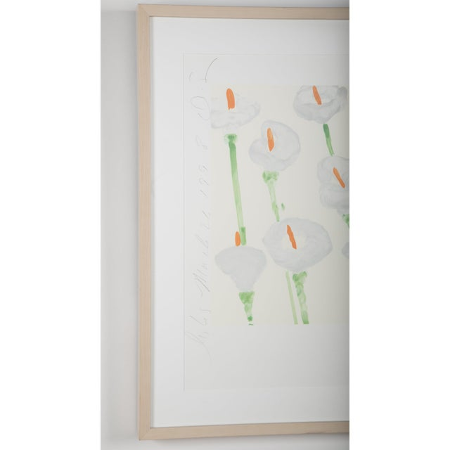 """Donald Sultan """"Lilies"""" Serigraph on Paper For Sale - Image 10 of 11"""