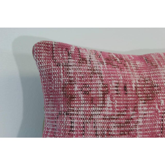 Pink Handmade Overdyed Rug Pillow Cover - Pair - Image 2 of 4
