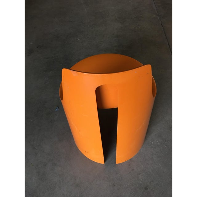 Early Swedish Orange Plastic Stacking Side Chairs by Overman - Set of 4 For Sale In Los Angeles - Image 6 of 9