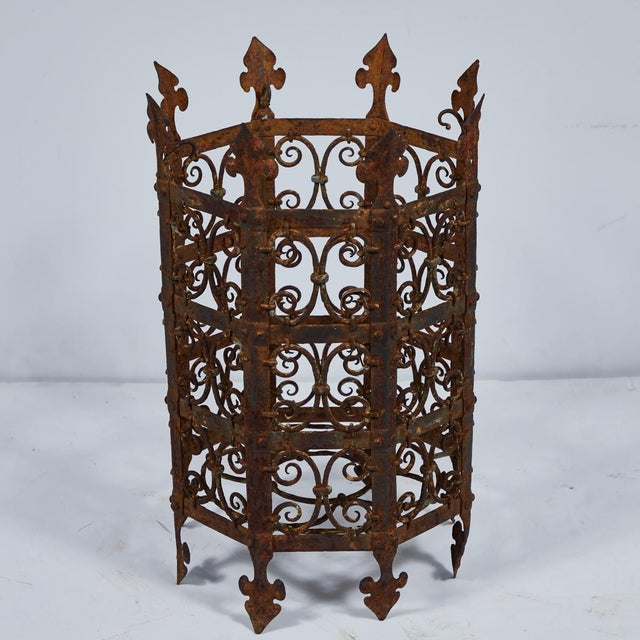 Mid 19th Century 19th Century Decorative Iron Jardinière From France For Sale - Image 5 of 5