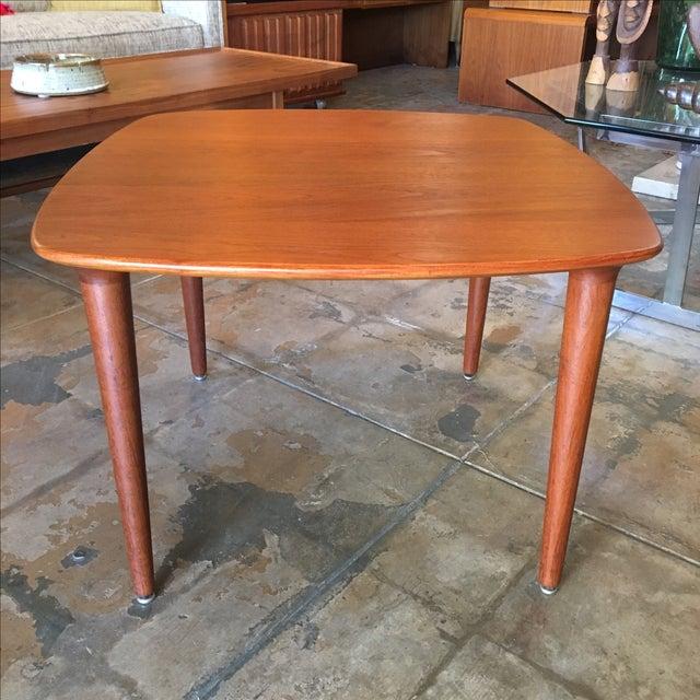 Norwegian Side Table in Teak - Image 2 of 4