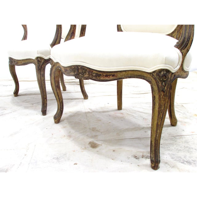 Louis XV Style Fauteuils - A Pair For Sale - Image 9 of 11