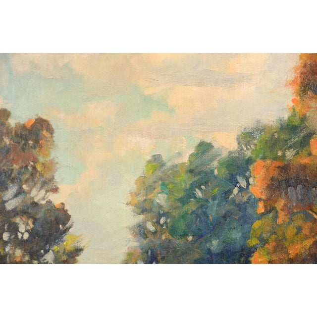 Blue Impressionist Horatio Nelson Poole Large California Landscape Oil Painting For Sale - Image 8 of 10