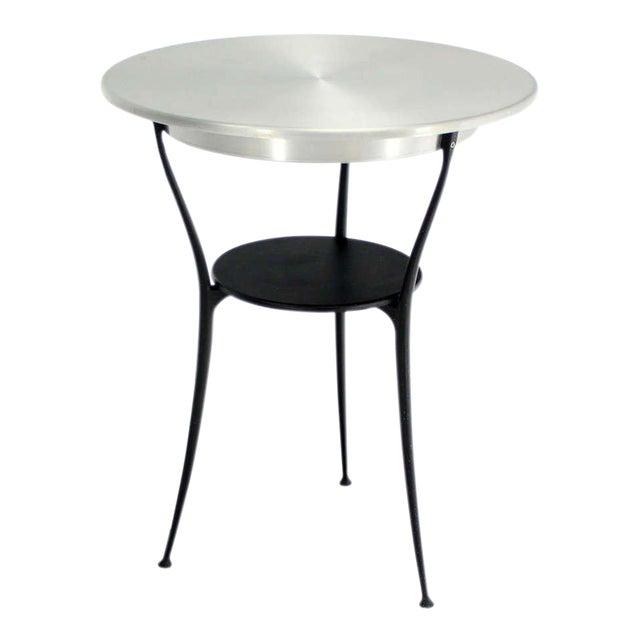 Mid-Century Italian Modern Tri-Leg Cafe Table by Arper For Sale