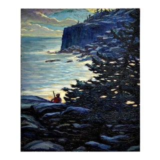 1923 Coast of Maine Painting For Sale