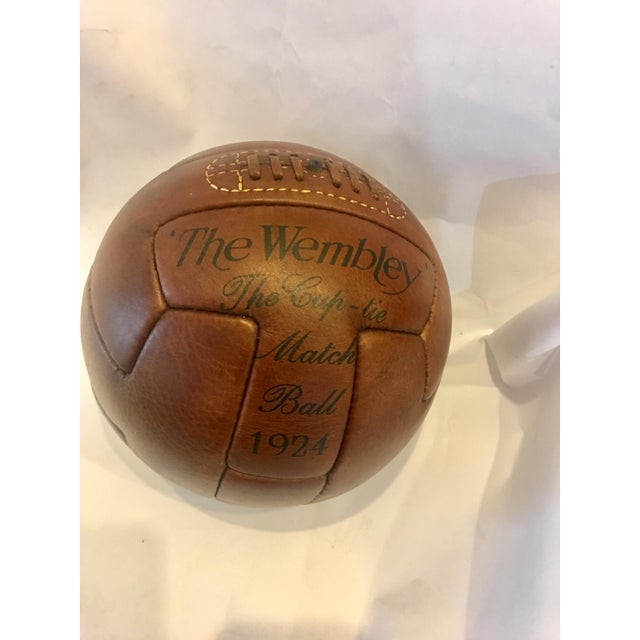 1924 Traditional Wembley Match Leather Soccer Ball - Image 5 of 5