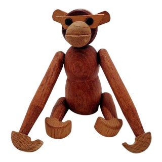 1960's Kay Bojesen Era Teak Monkey For Sale