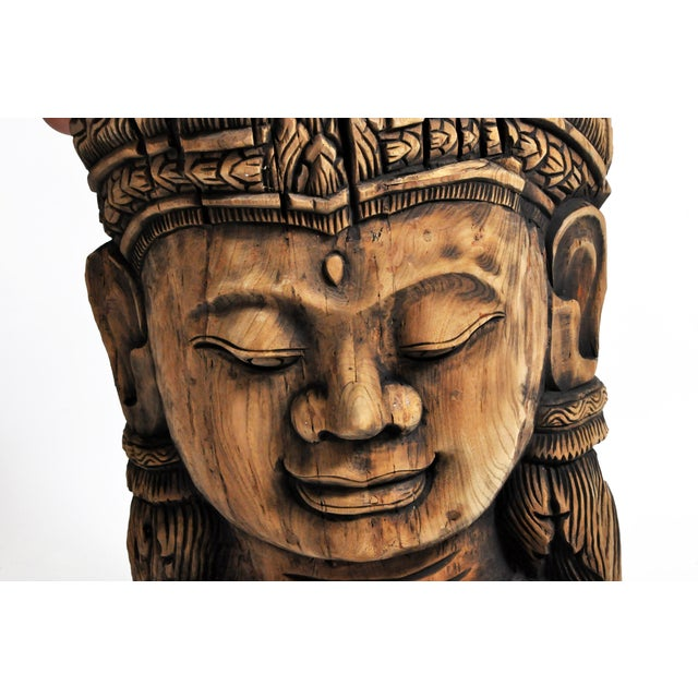 Southeast Asian Carving of Goddess For Sale In Chicago - Image 6 of 13