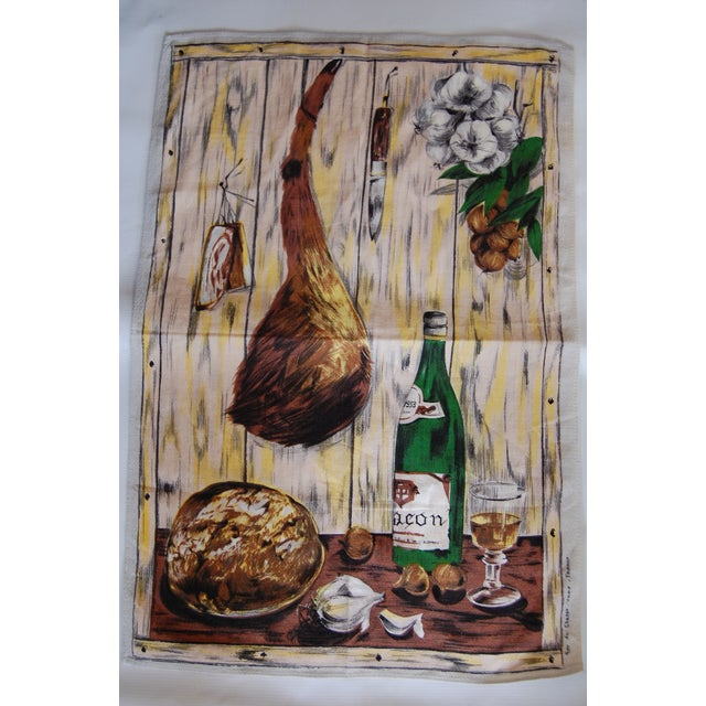 Vintage French Vony Tea Towel - Image 6 of 6