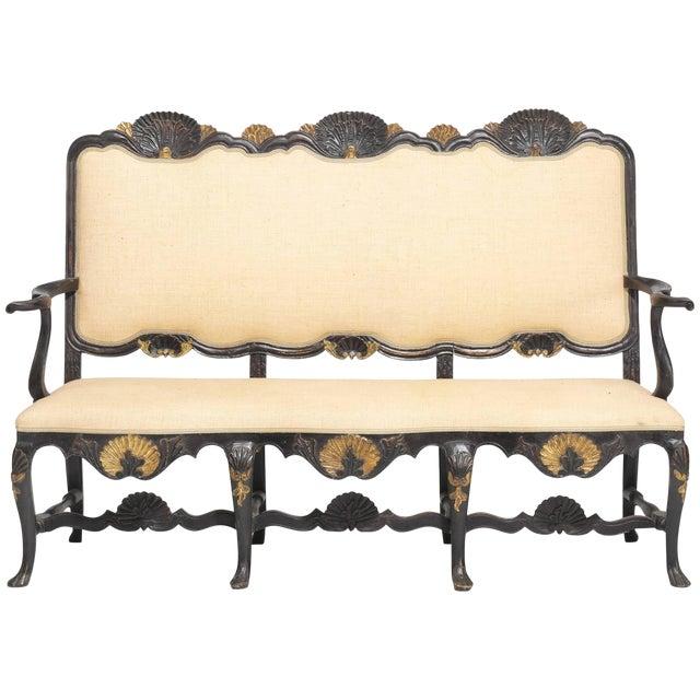 Norwegian Rococo Settee, Circa 1750 For Sale