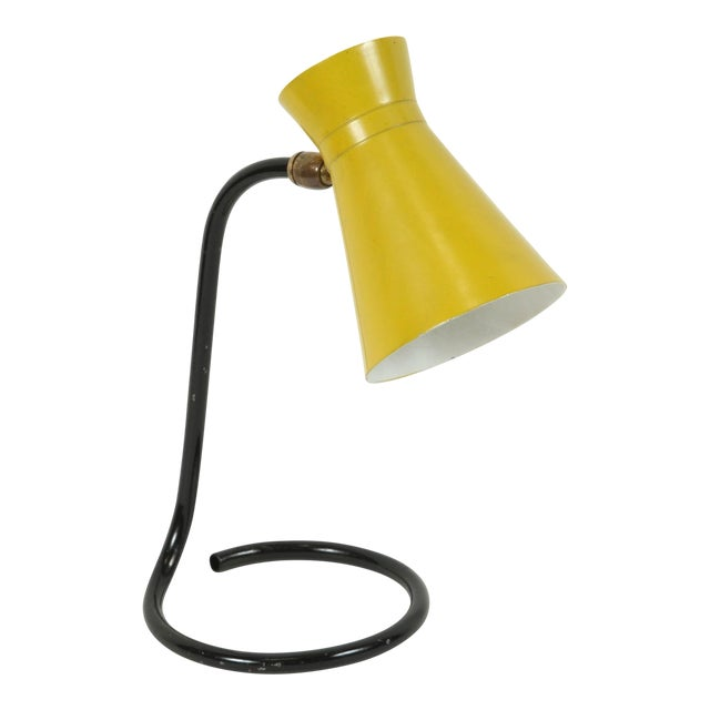"Jacques Biny ""Cocotte"" Yellow Table Lamp for Luminalite For Sale"