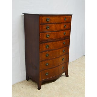 1940's Baker Mahogany Banded Chippendale Chest of Drawers Preview