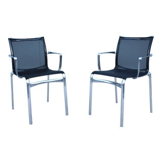Italian Modern Alberto Meda for Alias Bigframe Mesh Dining Armchairs - a Pair For Sale