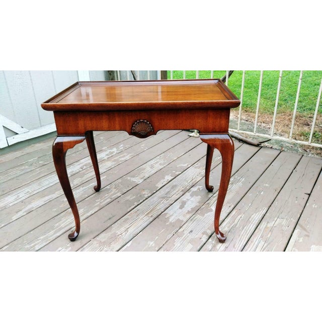 Vintage Traditional Brandt Mahogany Tea Table For Sale - Image 6 of 13
