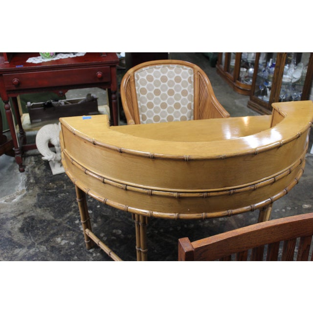 Ficks Reed Ficks Reed Writing Desk & Chair - a Pair For Sale - Image 4 of 11
