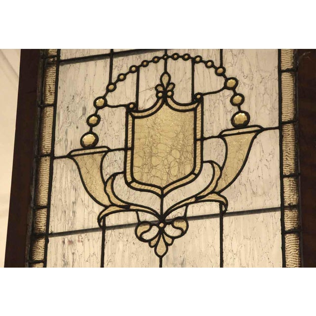 Traditional Vintage Mid Century Jeweled Stained Glass Windows- A Pair For Sale - Image 3 of 11