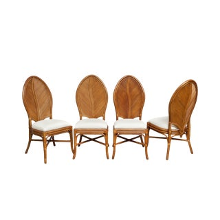 "Set of 4 ""Leaf Back"" Chairs, France, 1960s"