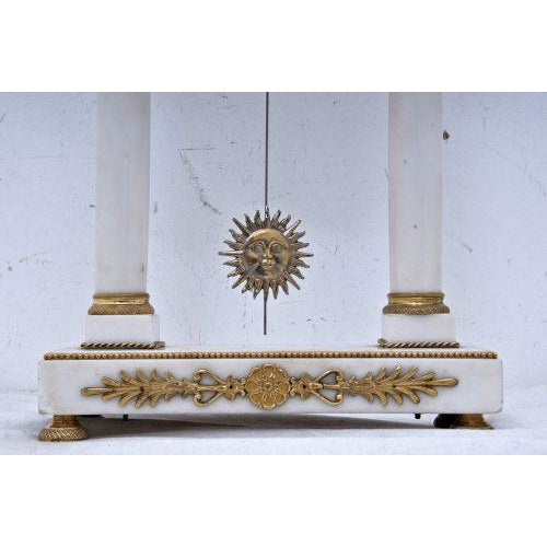 Metal 19th Century French Mantel Clock For Sale - Image 7 of 11