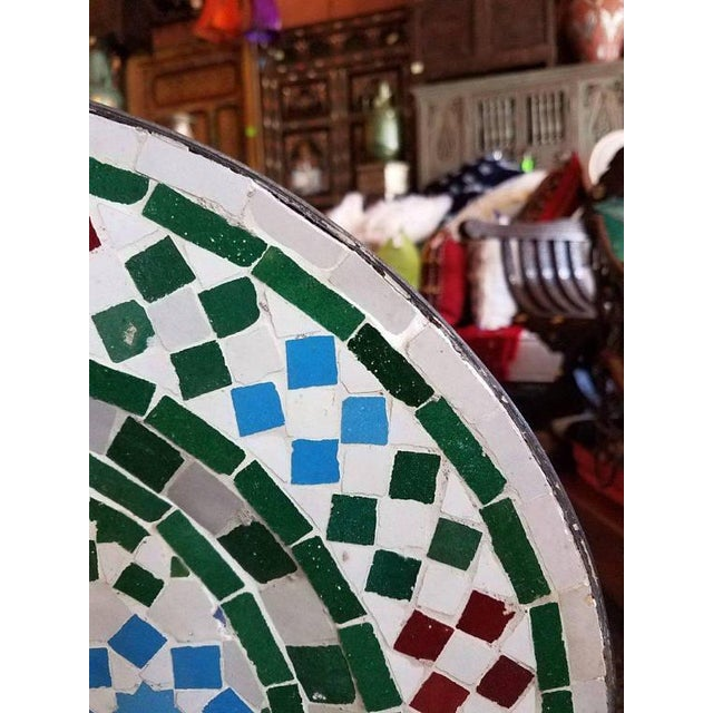 Moroccan Mosaic Fountain For Sale - Image 4 of 5