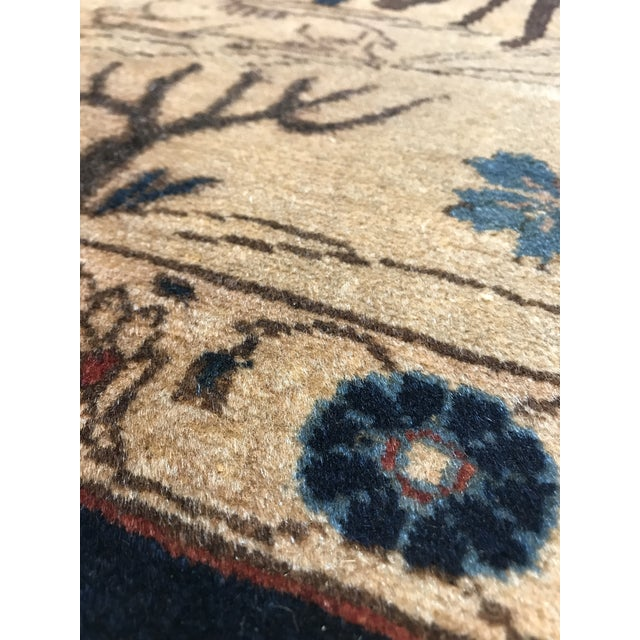 Late 19th Century Antique Tabriz Pictorial Wool Rug - 9′4″ × 12′4″ For Sale - Image 5 of 11