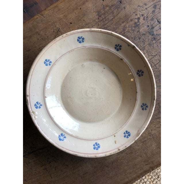 Rustic Hand Painted Italian Antique Terracotta Bowl For Sale - Image 4 of 10