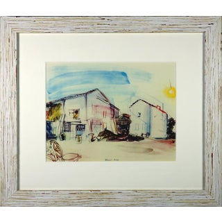 Framed 'Normandy Farm' Lithograph For Sale