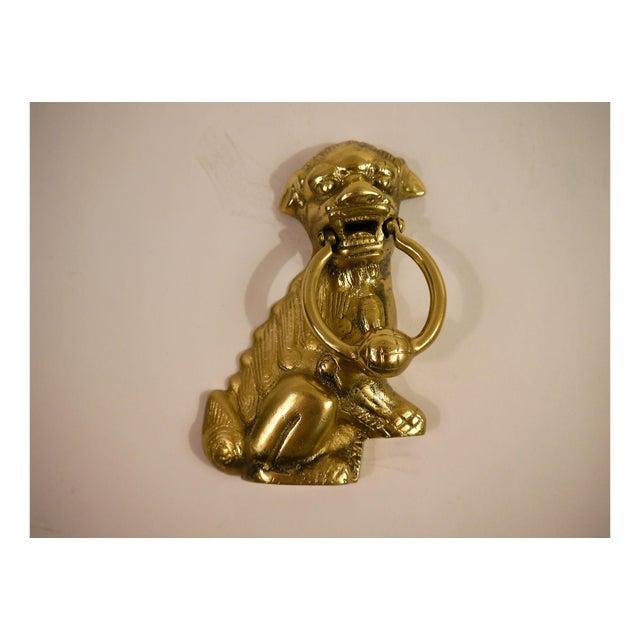 Solid Brass Foo Dog Door Knocker Chairish