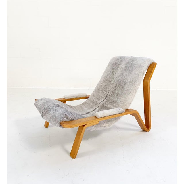 Mid-Century Modern Harvey Probber Suspension Chair Restored in Brazilian Cowhide For Sale - Image 3 of 12