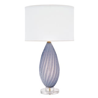 Murano Glass Lavender Table Lamp For Sale
