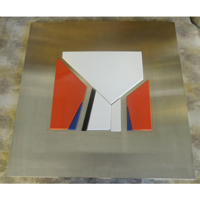 Jean Baier (1932-1999) was a Swiss modernist painter and sculpture. This rare piece from Galerie Ziegler in Geneva,...
