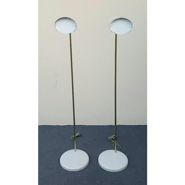 Mid-Century Modern Mid Century Rare Stylized Space Age Gerald Thurston Reading Floor Lamps - a Pair For Sale - Image 3 of 11