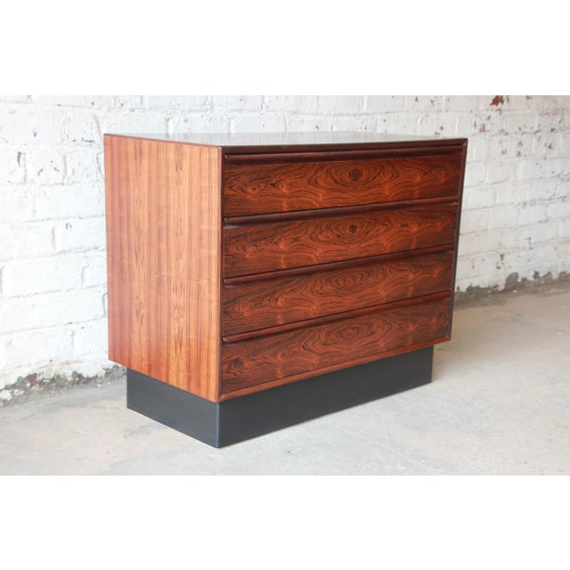 1960s Westnofa Norwegian Rosewood Bachelor Chest For Sale - Image 5 of 12