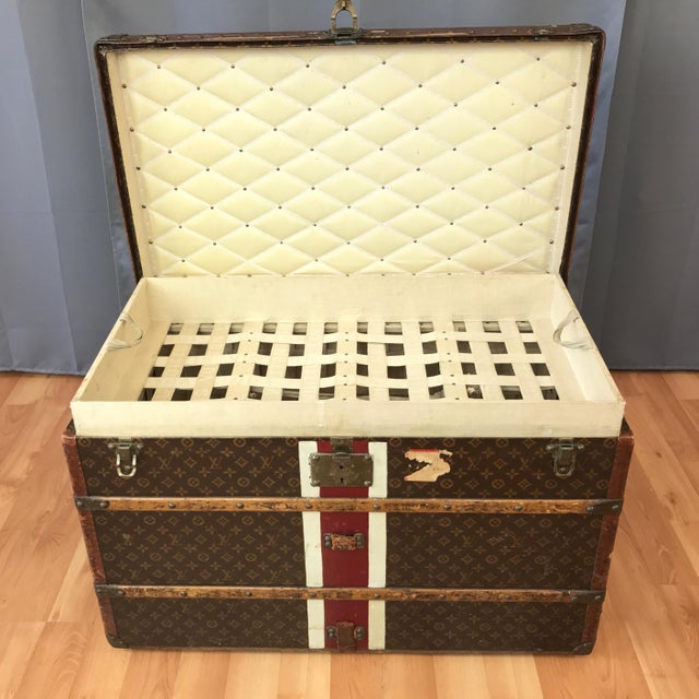 Americana 1950s Louis Vuitton Monogram Lady's Steamer Trunk For Sale - Image 3 of 13