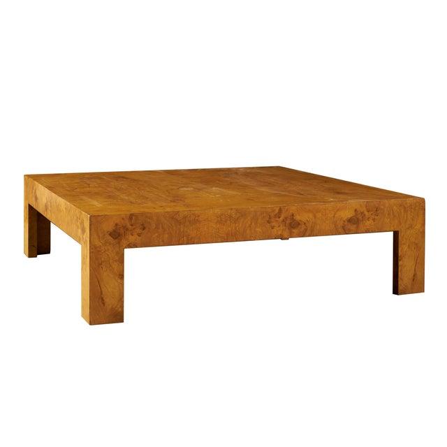 Monumental Milo Baughman Burlwood Coffee Table For Sale - Image 10 of 10