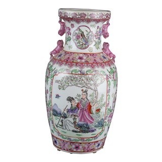 Early 20th Century Antique Chinese Pink Vase For Sale