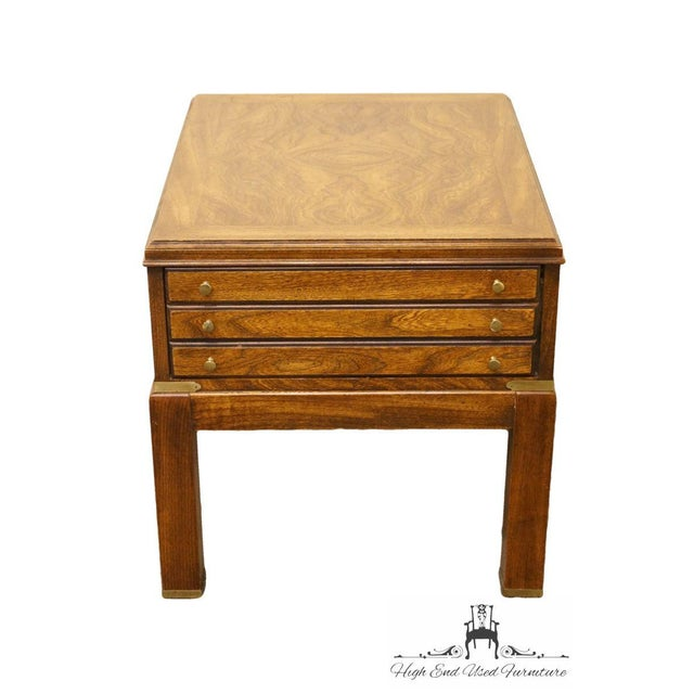 This side table would fir great in a bedroom to hold a lamp. Would look great with a brown, black or white lamp....